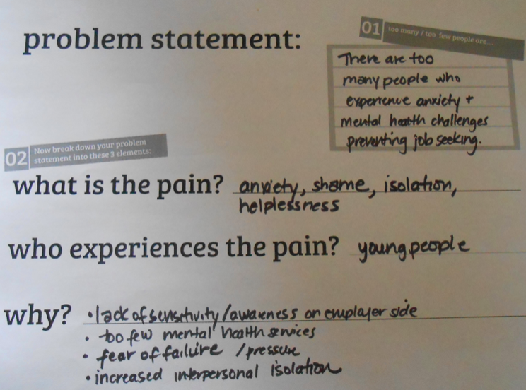One of 15 early problem statements
