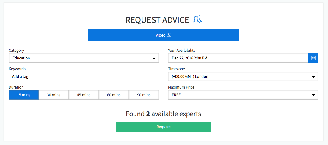 Request Advice Tool