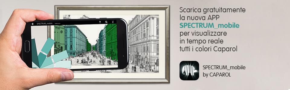 Nuova App SPECTRUM_mobile: i colori Caparol in tempo reale