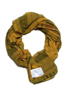 The Overdyed Yellow Madras Scarf