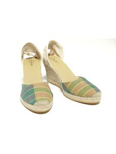 The Madras Espadrille Wedge