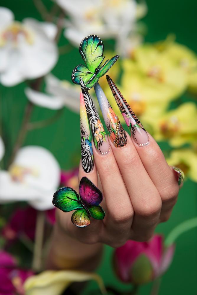 Beautiful Nail Competition Show Motif - Nail Art Ideas - morihati.com