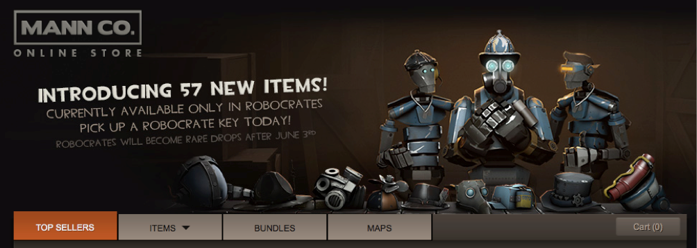 Mann Co., Team Fortress's in-game store