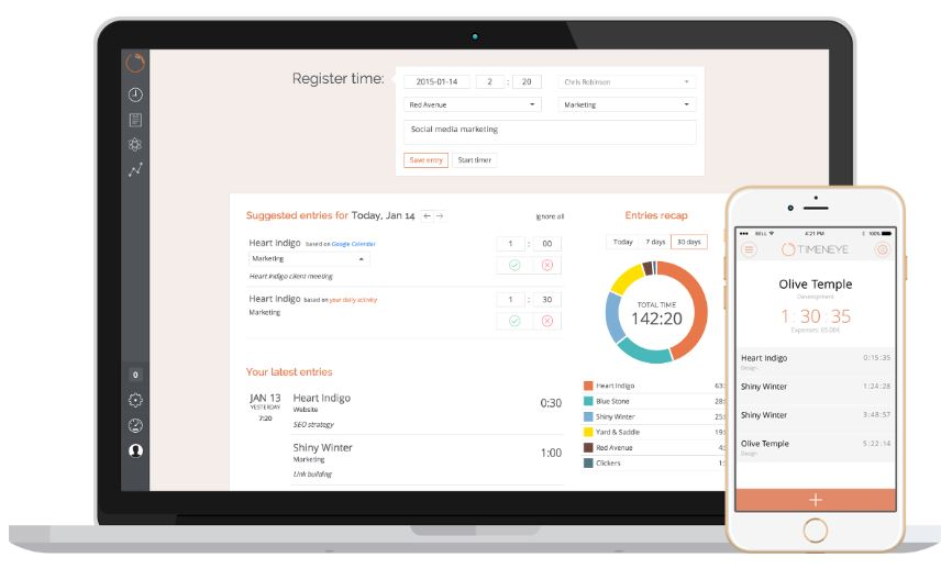 Timeneye tool project management