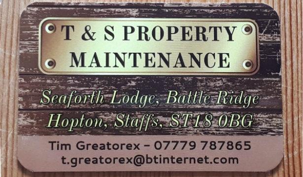 T & S Property Maintenance logo