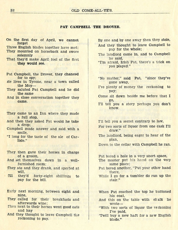 ballad of the landlord rhyme scheme