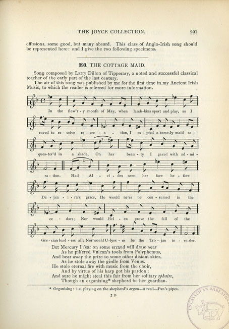 Songs of Old Ireland: A Collection of Fifty Irish Melodies