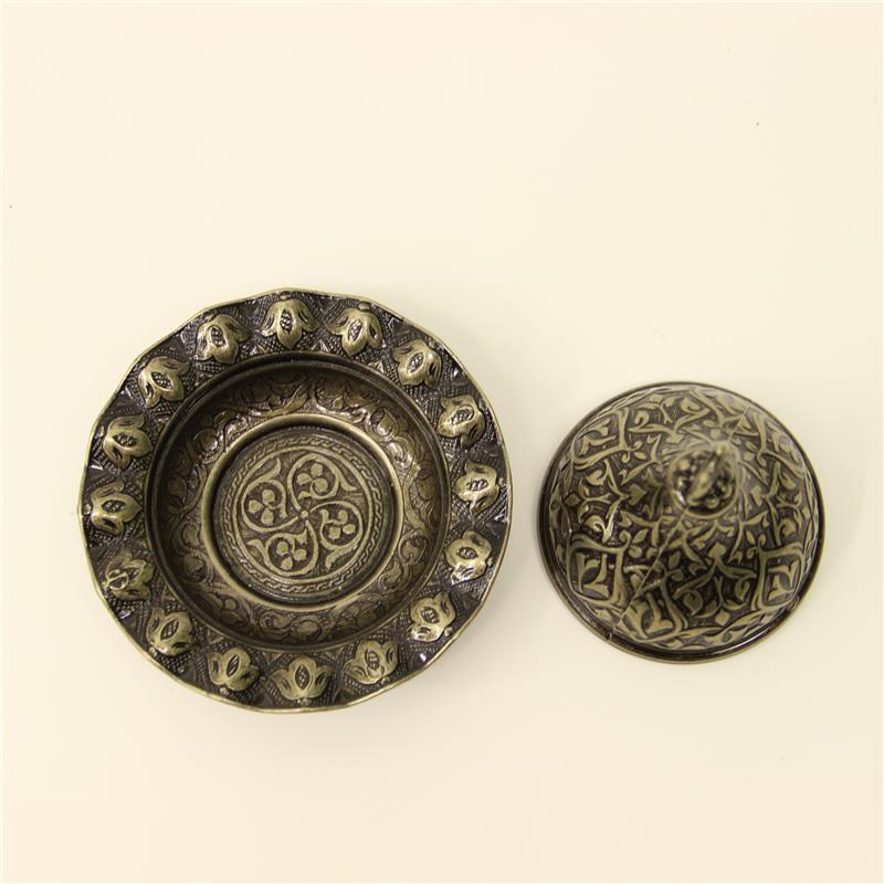 Turkish Classy Engraved Sugar Bowl Zamak Authentic Gift 16525