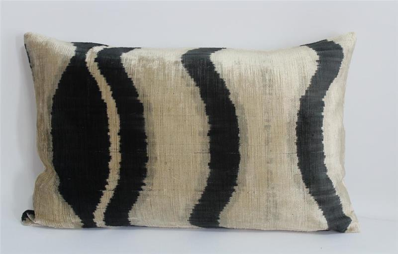 Handmade Silk Ikat Velvet Pillow