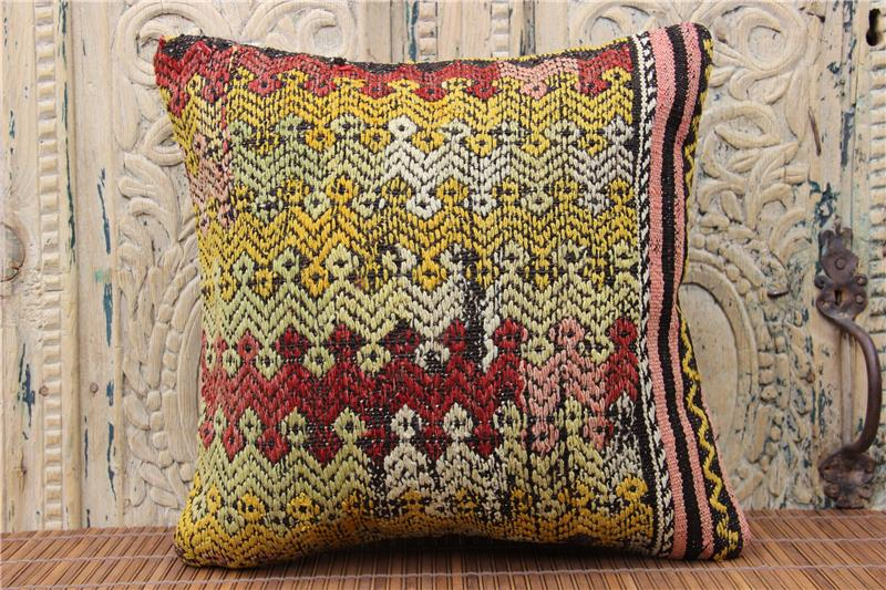 kilim pillow cover 16x16 in throw