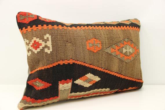 Decorative Lumbar Kilim Pillow Cover