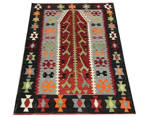Rugs And Carpets Decorative Vintage Kilim Rug 4 4x3 1 Feet Area Rug