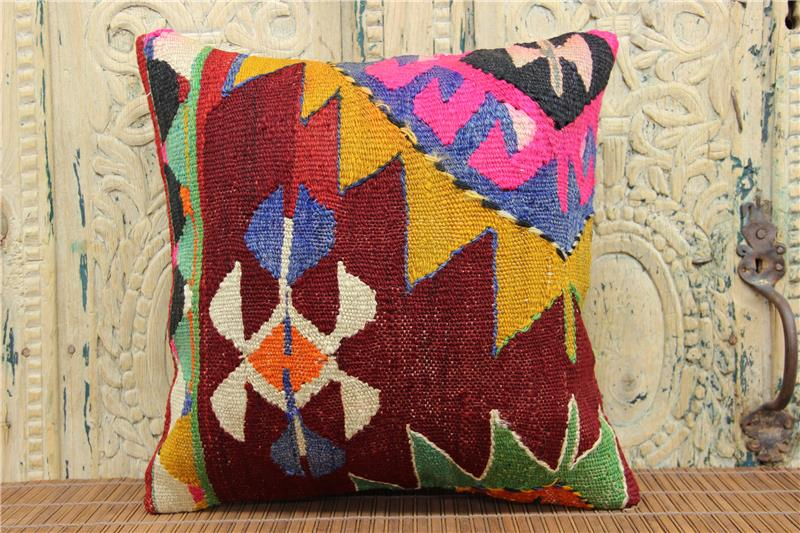 Home Design Kilim Pillow Cover 16X16 Inches Throw Kilim Pillow Cover Sofa  Decor Bolster Pillow Accent Pillow Vintage Pillow Cover M 1296