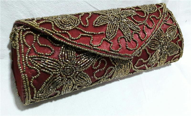 Bags   Purses-Ethnic Indian Clutch Embroidered Designer Purse Hippie-51759 c34f2792e09c0