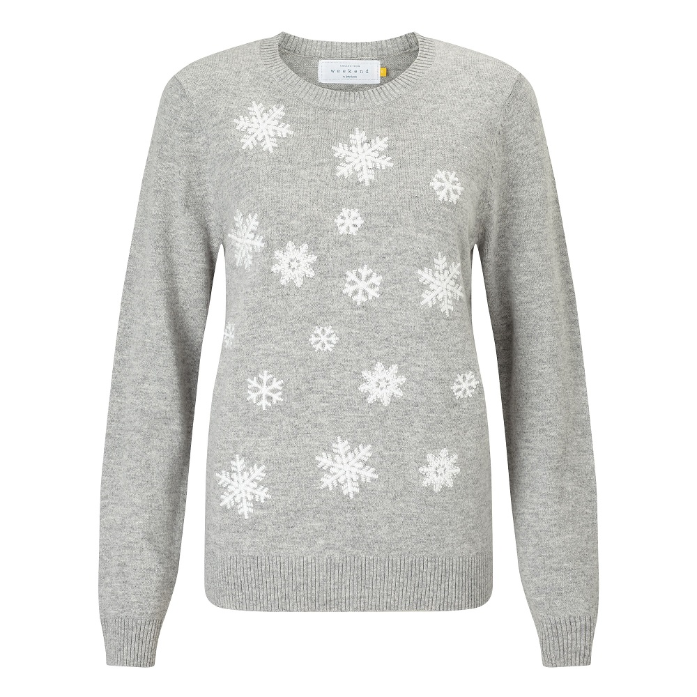 Collection-WEEKEND-by-John-Lewis-Embroidered-Snowflake-Knit-Jumper--GreyWhite----49