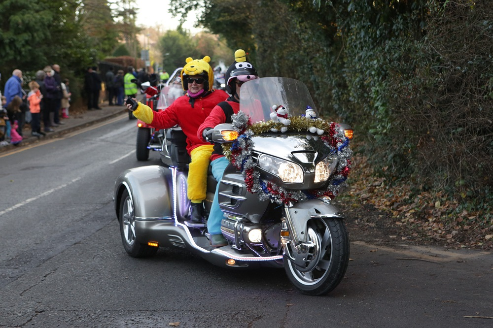 Winnie-the-Pooh-on-the-back-of-a-bike-during-the-Reading-Toy-Run.
