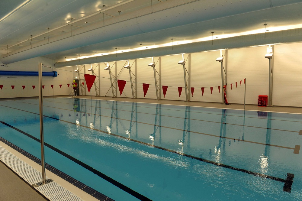 In pictures behind the scenes of the new pop up swimming for Latest swimming pool