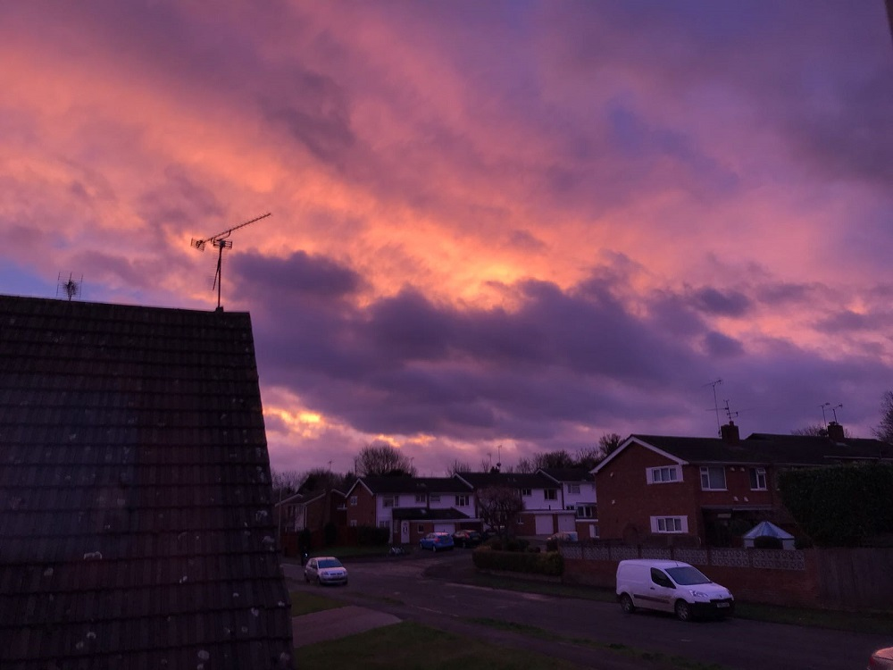 In pictures: the pink skies over Reading