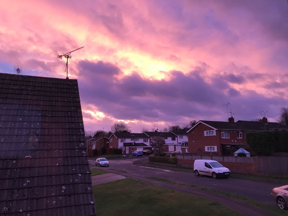 This is why there was a spectacular pink sky over Reading and Berkshire