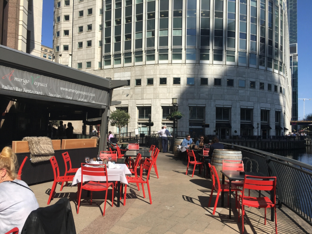 35 places to eat and drink outdoors in Canary Wharf | thewharf