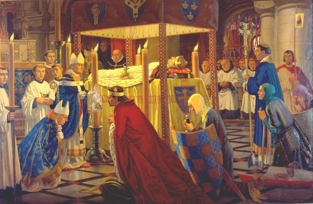 Burial-of-King-Henry-I-at-Reading-Abbey-1136
