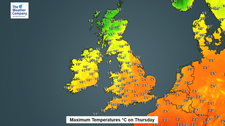 TWCUK-weather-thursday27th-temps2