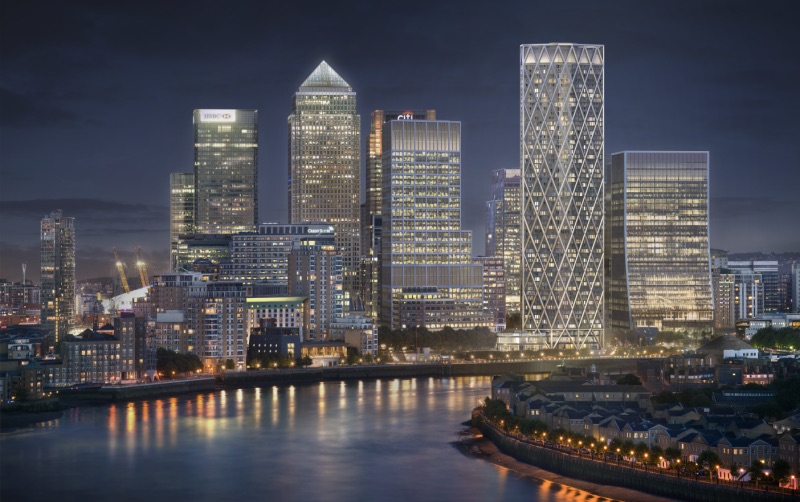 Canary Wharf Tops Out The Uk S Tallest Residential