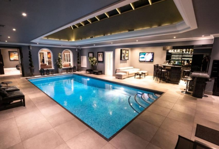 See Inside Stunning Dream Home With Indoor Pool Bbq And Bar For