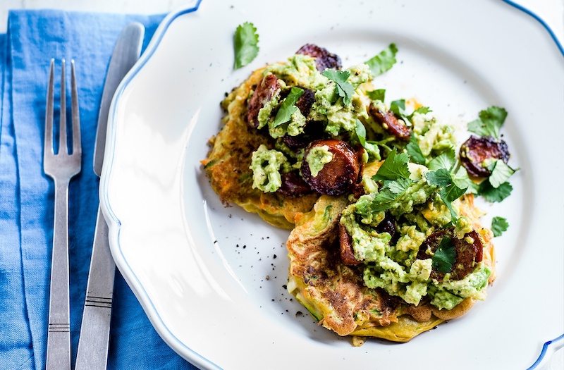 Avocado-and-Chorizo-Pancakes