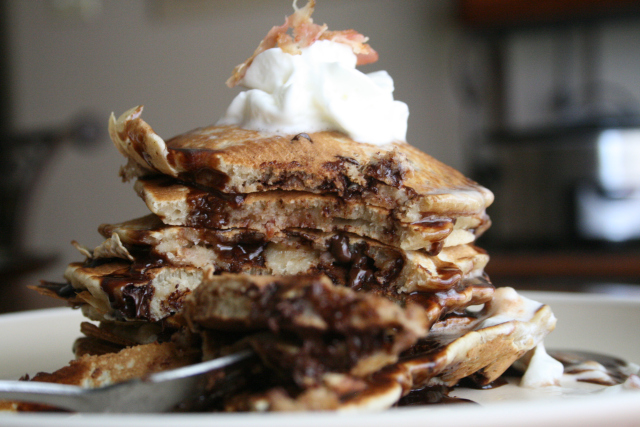 Chocolate-Chip-Bacon-Pancakes