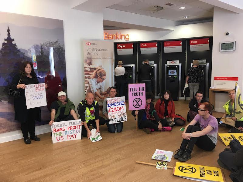 Environmental-activists-protest-against-banks-in-Reading-town-centre-1