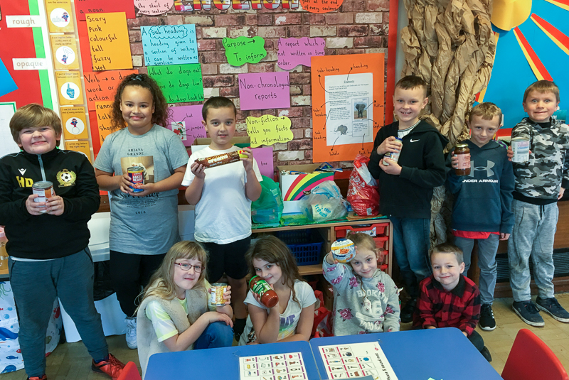 Brooklands-Primary-School-children-make-food-donation-to-The-Canaan-Trust-charity-1