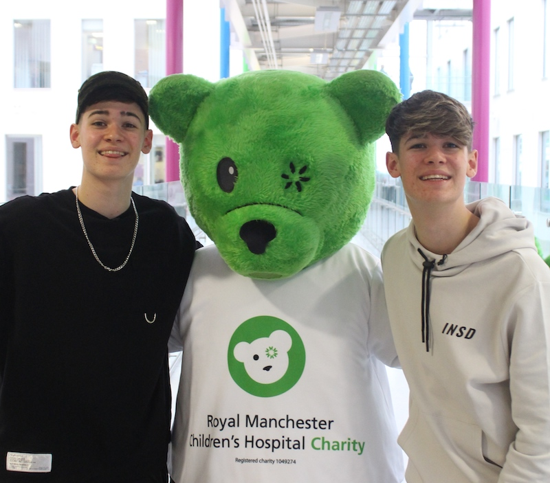 X Factor twins become charity patrons of Royal Manchester Children s Hospital.