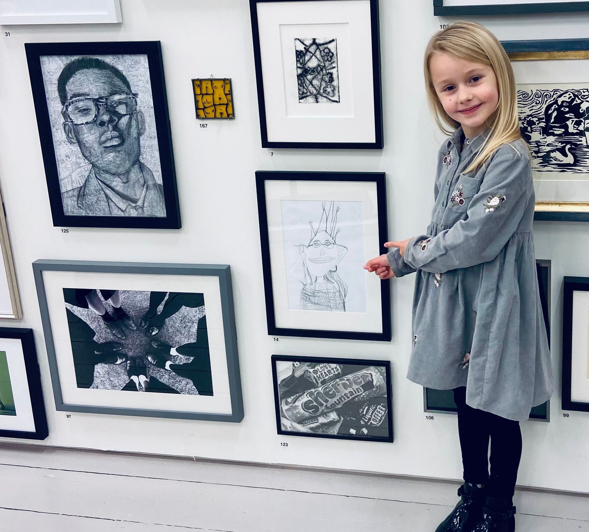 Chloe with her artwork 1