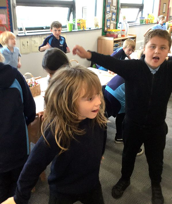 After three minutes of exercise Ramsgate Arts Primary pupils were surprised at how puffed out they were