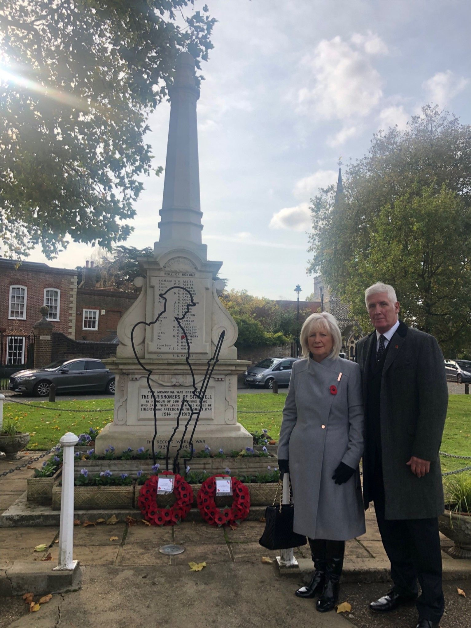 Remembrance service, Stanwell.  Credit: Spelthorne Borough Council  Copyright: Spelthorne Borough Council