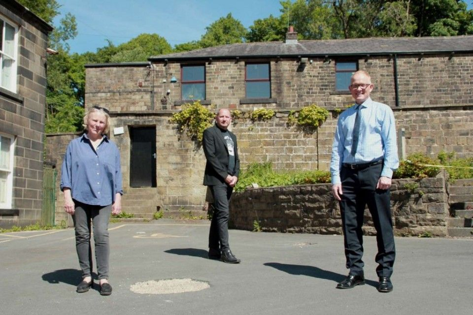Council leader Alyson Barnes, with Carl Bell, of the Whitaker, and John Boys at The Whitaker last June