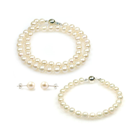 Angelina freshwater pearl necklace set