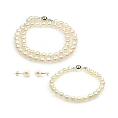 Angelina freshwater pearl necklace set