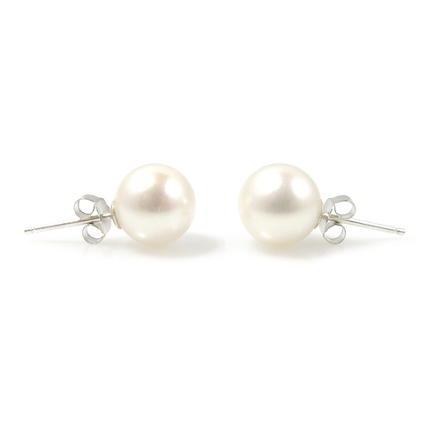 Lucy Royale large freshwater pearl ear studs