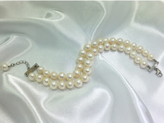 Portofino - double strand wedding pearl bracelet by Jacqueline Shaw Londonr