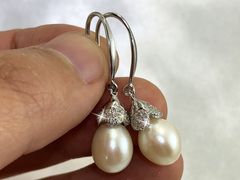 Isla - bridal pearl earrings by Jacqueline Shaw London