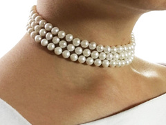 freshwater pearl wedding choker three strand