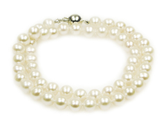 Angelina choker - classic 16 inch pearl necklace made with best quality AAA cream freshwater pearls