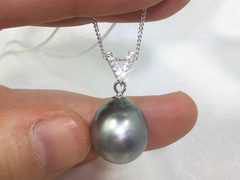 Big Tahitian pearl pendant Veronica - by Jacqueline Shaw London