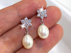 Samara - bridal pearl earrings by Jacqueline Shaw London