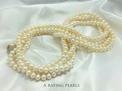 Paris 1920 pearl necklace with A rating pearls