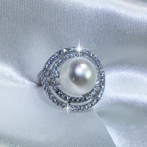 Princess Saturn Pearl Ring - Freshwater Pearl