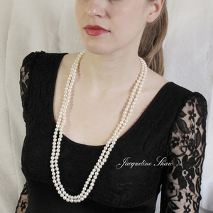 Paris 1920 with AAA top quality pearls - long pearl rope by Jacqueline Shaw London