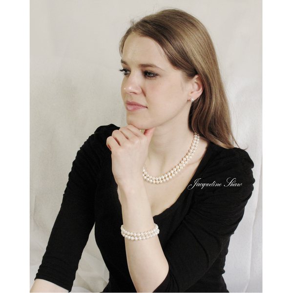 Claire - double strand freshwater pearl necklace